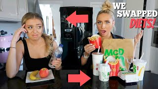 I swapped DIETS with my BESTFRIEND for 24hours!! ft Anastasia Kingsnorth!