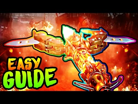ORIGINS ULTIMATE FIRE STAFF BUILD UPGRADE GUIDE! BO3 Zombies Chronicles KAGUTSUCHI BLOOD Easter Egg