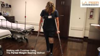 How to Properly Use Crutches - Los Angeles - Instructions from La Peer Health Systems