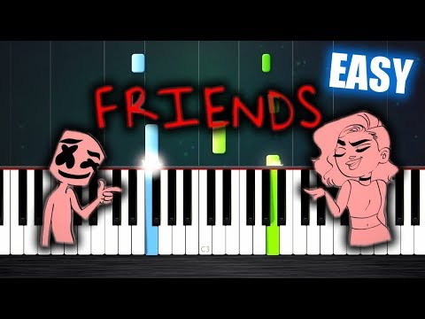 Marshmello & Anne-Marie - FRIENDS - EASY Piano Tutorial by PlutaX