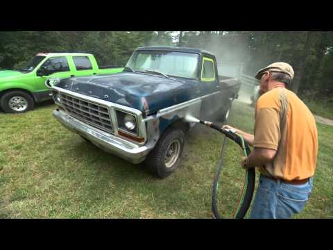Behind the Scenes of Dennis Gage's Truck Being Dustless Blasted!