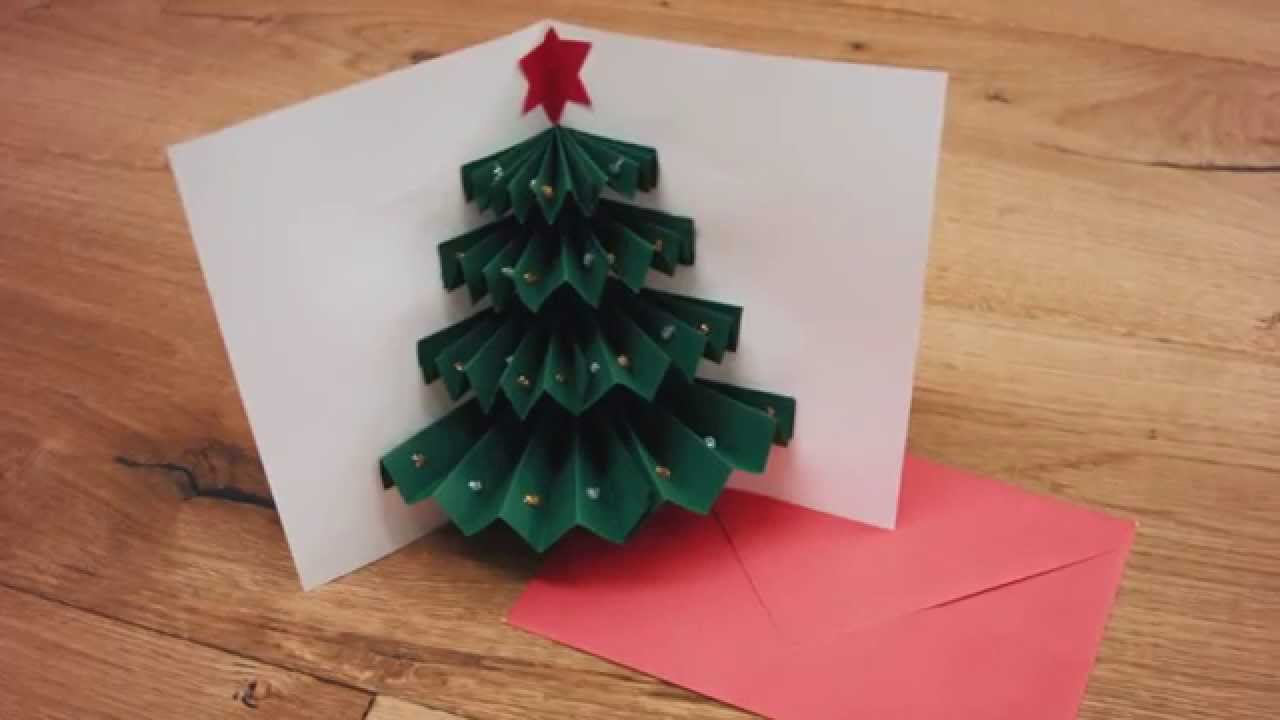 Bricolage - la carte sapin - YouTube