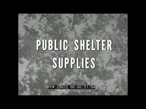 1950s CIVIL DEFENSE FALLOUT SHELTER SUPPLIES FILM 29072