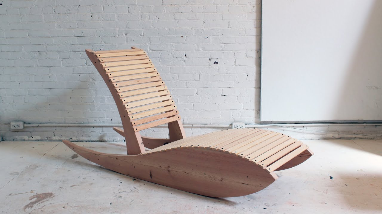 DIY Rocking Lounge Chair 1.0 - YouTube