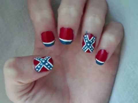 Confederate flag nails youtube confederate flag nails prinsesfo Gallery