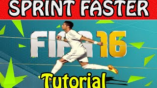 FIFA 16 TUTORIAL - HOW TO SPRINT FASTER / SPECIAL FIRST TOUCH