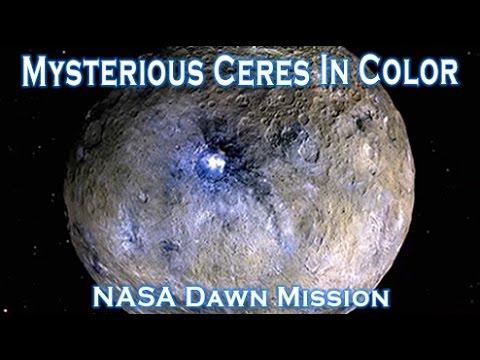 Mysterious Ceres Dwarf Planet In Amazing False Color - Dawn Mission