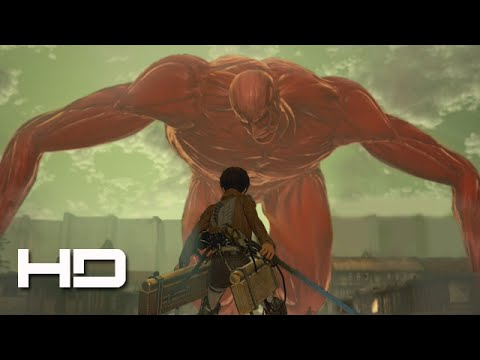 ATTACK ON TITAN (PS4) Eren VS The Colossal Titan Secret ENDING - Walkthrough Gameplay Cutscene