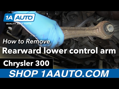 How to Replace Install Front Rearward Lower Control Arm 05-10 Chrysler 300