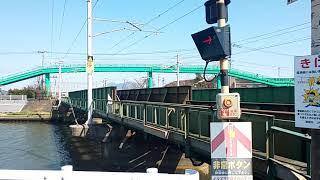 【西川下踏切・813系・快速】813系9両快速久留米行通過シーン