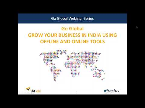 Go Global Webinar:  Grow your business in India using offline and online tools