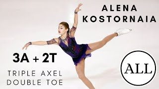 Alena KOSTORNAIA ALL TRIPLE AXEL DOUBLE TOES 3A 2T