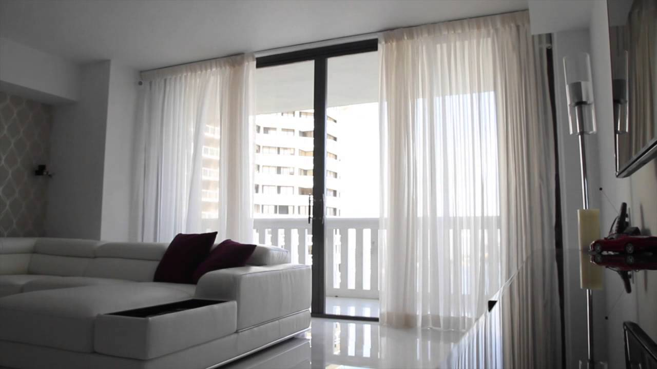 Motorized Curtains Miami Beach Youtube