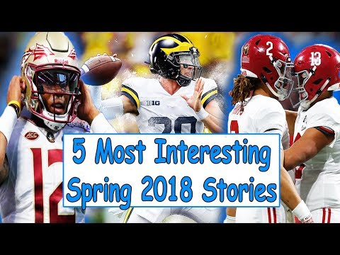 5 Of The Most INTERESTING Stories From College Football Spring 2018!!! (Chosen By You!!!)