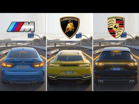 SUV BATTLE ! BMW X6M vs Lamborghini Urus vs Porsche Cayenne Turbo | Forza Motorsport 7