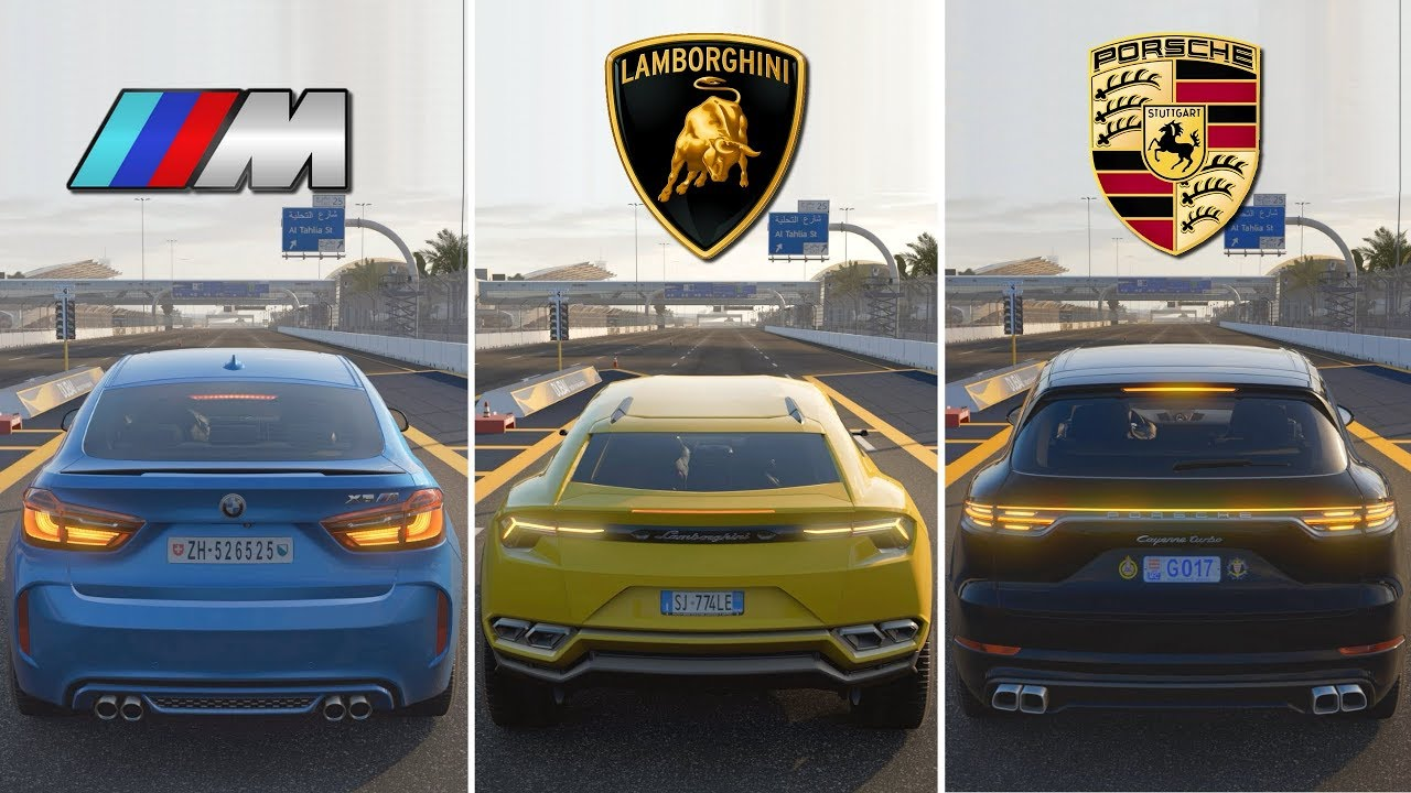 Suv Battle Bmw X6m Vs Lamborghini Urus Vs Porsche