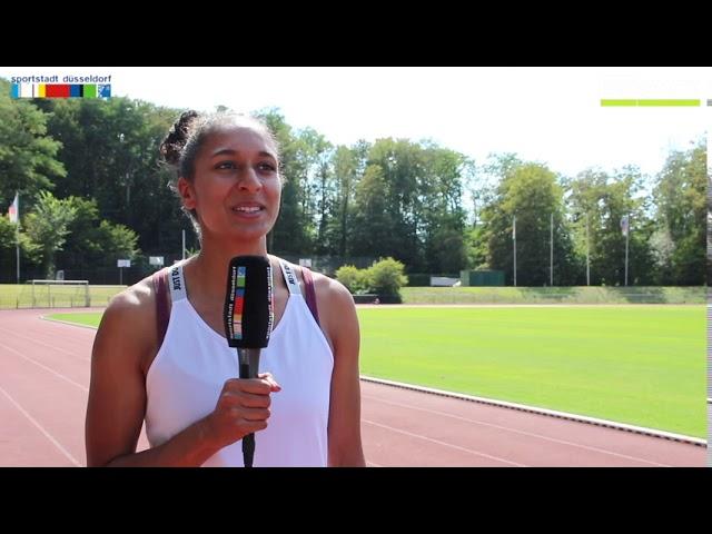 Dreispringerin Jessie Maduka ist heiß auf eine Medaille