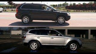 Volvo XC90 2.4 D5 AWD vs Bmw X3 2.0i xDrive - 4x4 test on rollers
