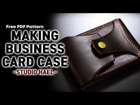 가죽 공예/명함 지갑 만들기/명함 케이스 만들기/Making a business card case/Leather craft