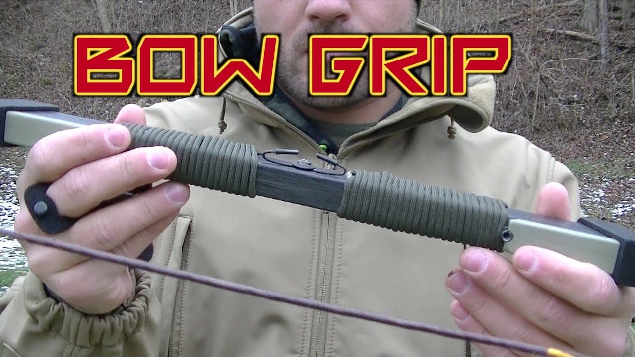 Diy Bow Riser Paracord Grip Youtube
