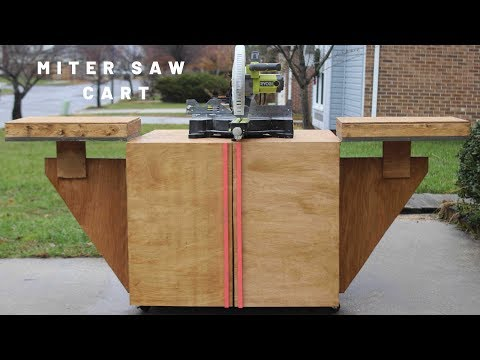 The Ultimate DIY  Mobile Miter Saw Station with Dust Collection and Storage