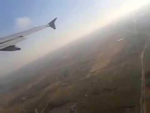 Airplane take off from Heydar Aliyev International Airport