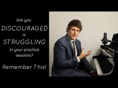 DISCOURAGEMENT and STRUGGLE in Piano Practice  - Josh Wright Piano TV
