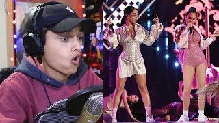 "Becky G - Sin Pijama [En Vivo] ft. Natti Natasha | cantan ""Sin Pijama"" | Premios MTV MIAW 2018"