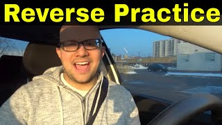 Practicing Steering In Reverse-Beginner Driving Lesson