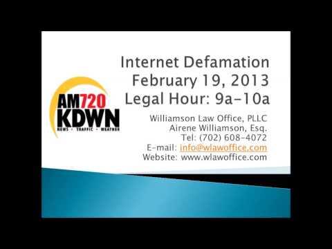 Basics of Internet Defamation