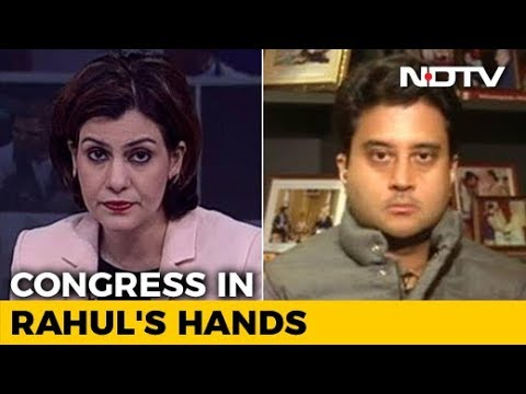 Jyotiraditya Scindia Says Changes Coming To Congress After Rahul Gandhi's Elevation