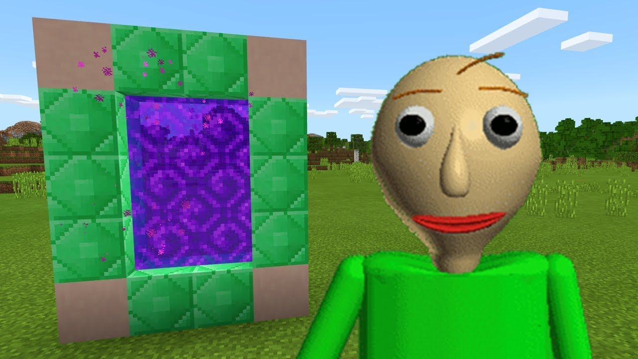 how to make a portal to the baldi s basics dimension in minecraft pe