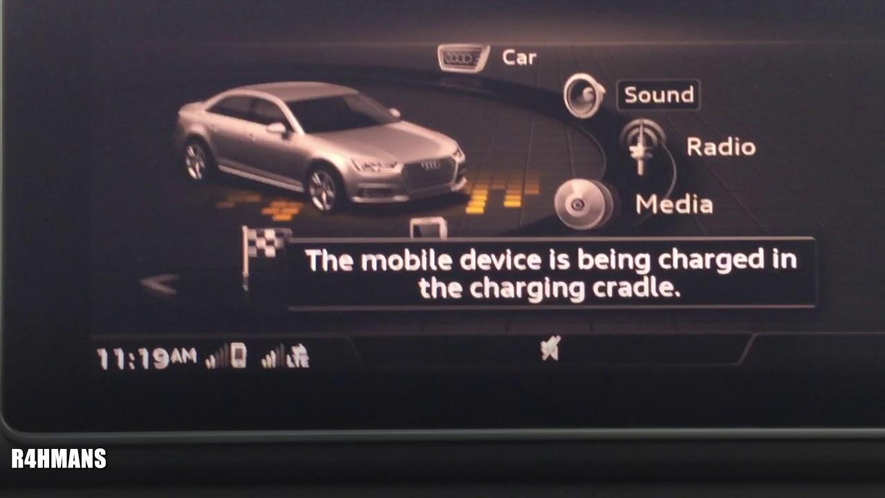 IPhone X Wireless Charging Audi A B InCar Notification - Audi iphone 6 car cradle