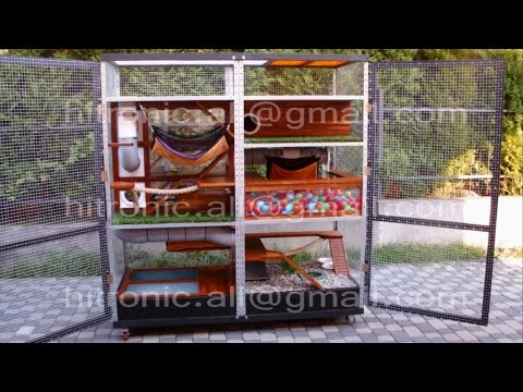 A large cage for ferrets / chinchillas - 1,8 x 2,0 x 0,9 m. Amusement Park.