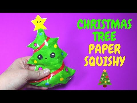 Christmas Tree Paper Squishy | Christmas Crafts for Kids