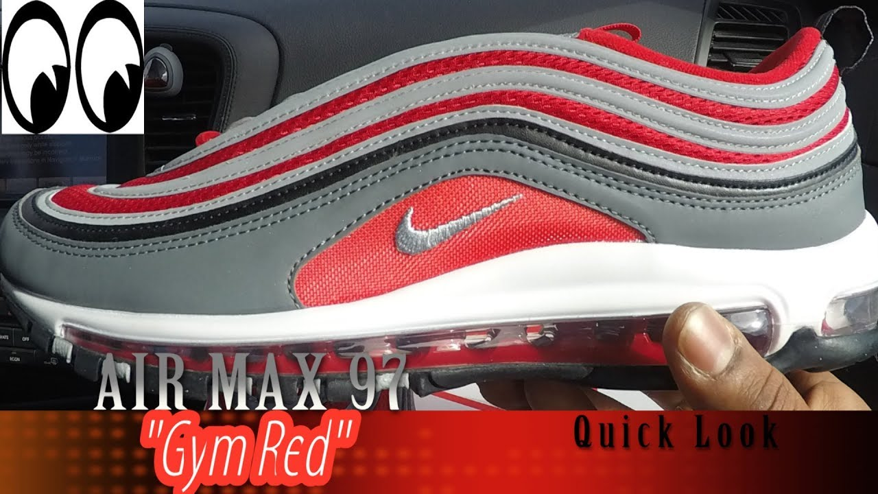 9929b02b5b6 AIR MAX 97   GYM RED   quick look - YouTube