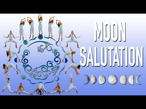��Moon Salutation Step by Step Chandra Namaskar Lunar Yoga Full moon Flow