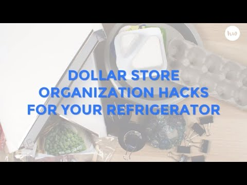 Dollar Store Hacks For Your Refrigerator