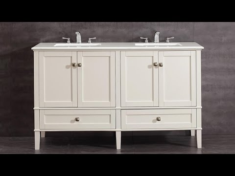 Simpli Home NL HHV029 Chelsea Collection Bath Vanity With 105 Degree Hidden Hinges And Ball Bearing