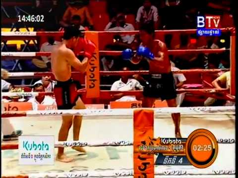 Khmer Boxing Long Savandeun Vs Soy Ya Teur at BTV 22/Feb/2015