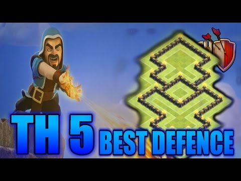 Clash Of Clans - Townhall Level 5 Trophy Base Layout - 2016 Base