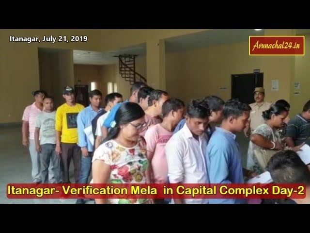 Itanagar- Verification Mela in Capital Complex Day 2
