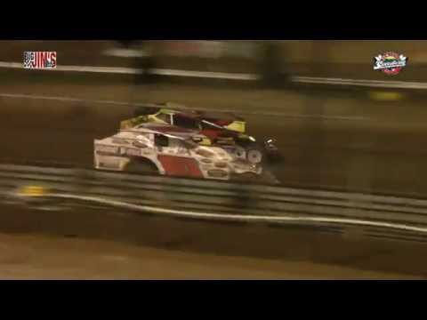 New Egypt Speedway sprint car flip and highlights 7-2-16