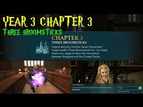 Harry Potter Hogwarts Mystery Year 3 Chapter 3 Three Broomsticks Gameplay