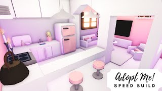 Aesthetic Baby Pink Tiny Home Speed Build  Roblox Adopt Me!