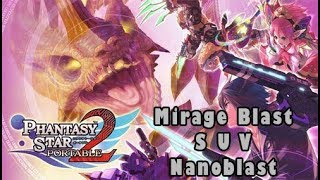 Phantasy Star Portable 2 All Mirage Blasts, Nanoblasts and SUVs