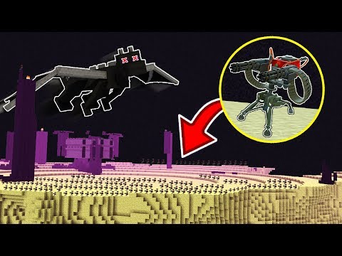 1,000 MINECRAFT SENTRY GUNS Vs THE ENDER DRAGON!!