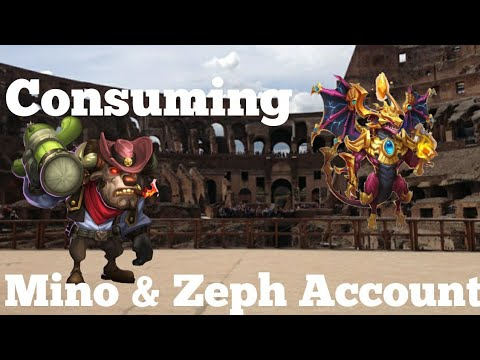 Consuming Minotaur Chieftain And Zephyrica Account Castle Clash