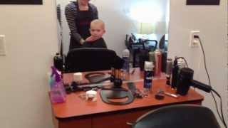 Shaving my sons head
