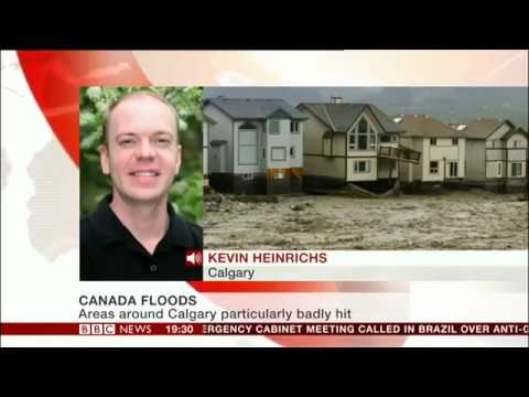 BBC World News Canada floods 2013
